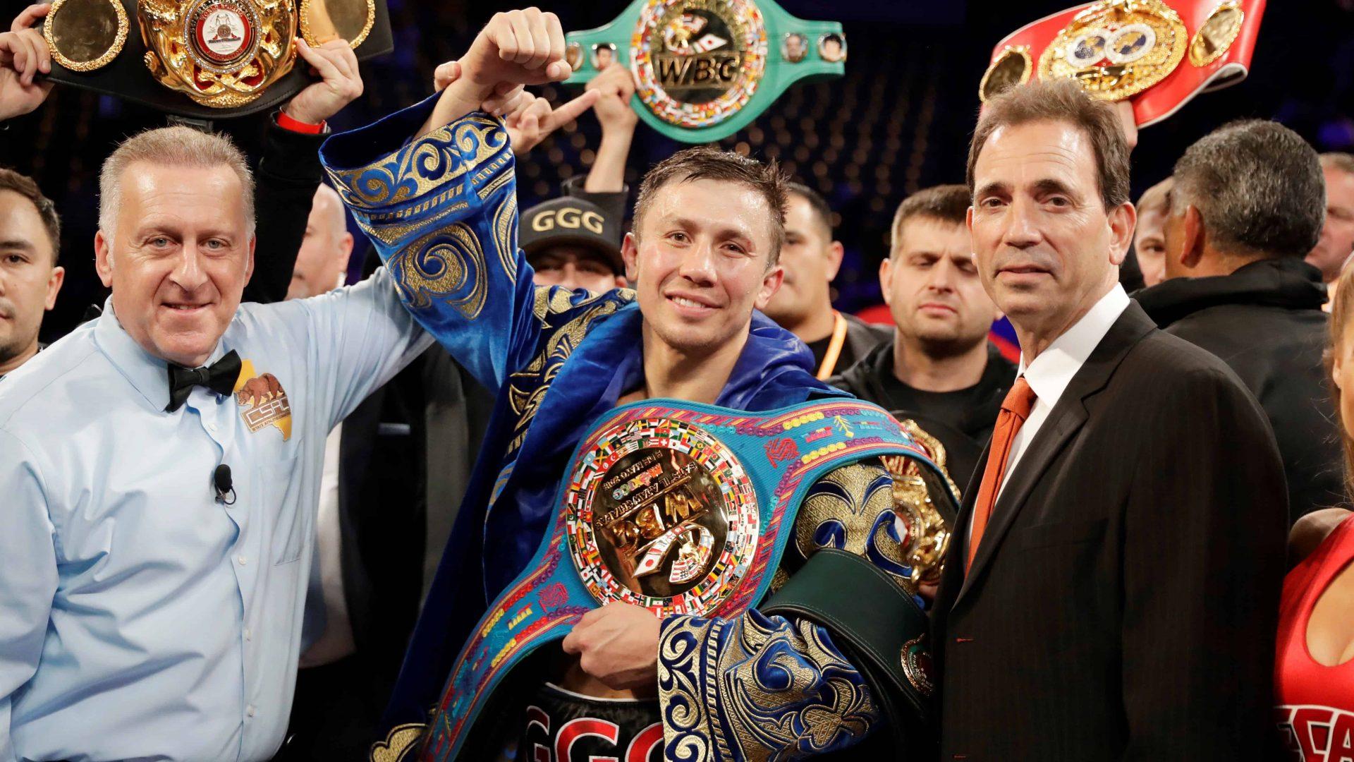 Gennady Golovkin korábbi IBO/IBF/WBA/WBC középsúlyú világbajnok.