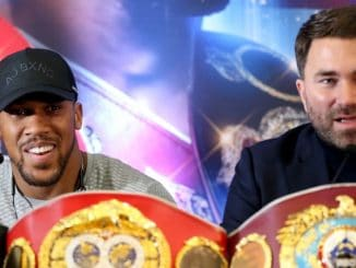 Anthony Joshua és Eddie Hearn