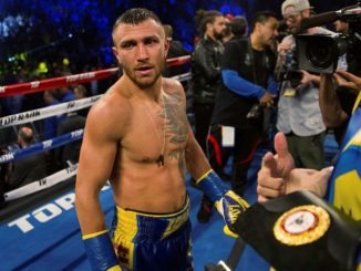 Vasyl Lomachenko WBO/WBA Super könnyűsúlyú világbajnok.
